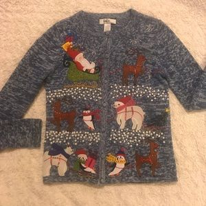 Ugly Christmas Colorful Cardigan Sweater Size S-L c336bed236